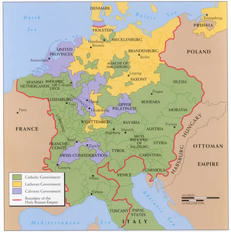 Map Of Germany 30 Years War.6 4 Thirty Years War